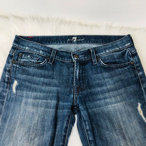 7 For All Mankind Jeans - 7 For All Mankind Boot Cut Distressed Denim